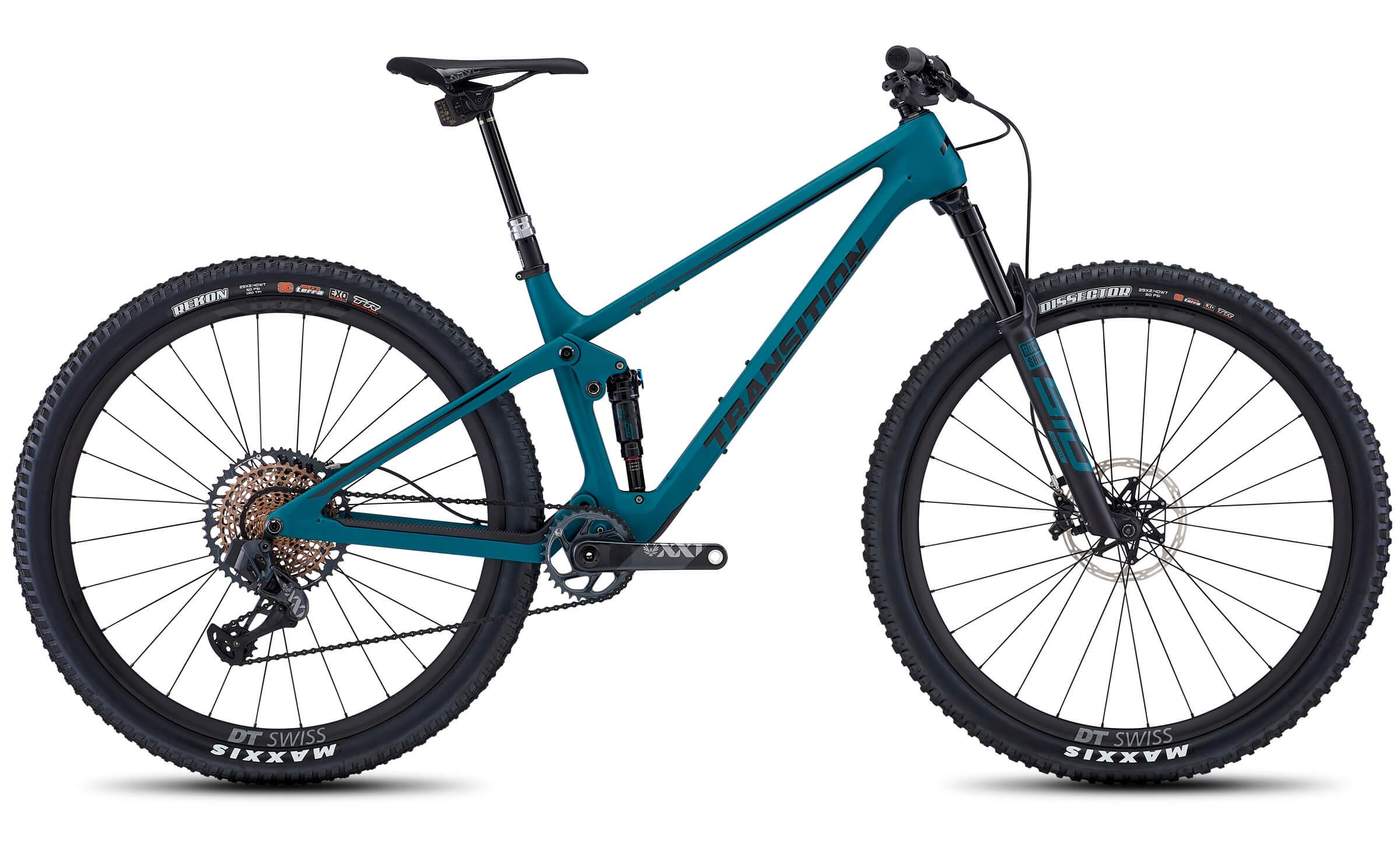 transition spur blue mountain bike